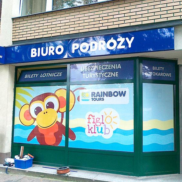 Grafika na witrynach Lublin