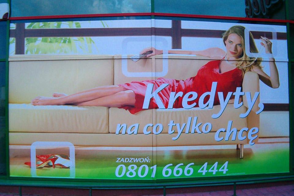 reklama w witrynach Lublin