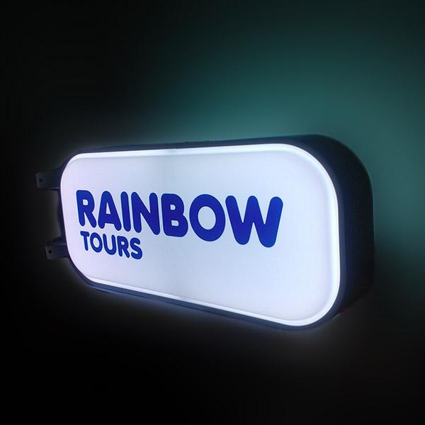 Reklama podświetlana baner
