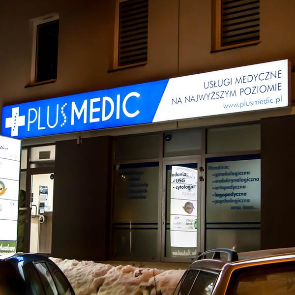 Reklama na budynku Lublin