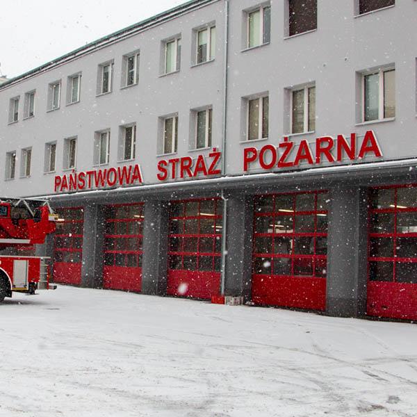 Litery podświetlane straż pożarna